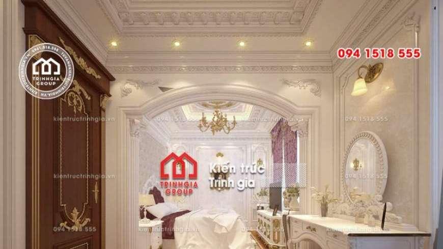 Biệt thự kiểu Pháp 3 tầng 1 tum có 2 mặt tiền lộng lẫy nhất