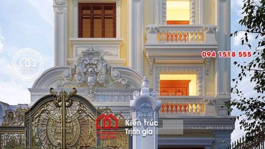 Biệt thự 4 tầng tân cổ điển thu hút mọi ánh nhìn khi đi qua