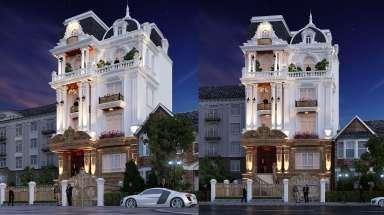 Mẫu biệt thự 4 tầng tân cổ điển đẹp sang lộng lẫy ở Hà Nội