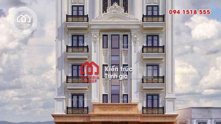 25 mẫu mặt tiền khách sạn kiểu Pháp tân cổ điển đẹp mới nhất