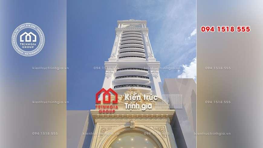 Mẫu thiết kế khách sạn cao tầng đẹp có diện tích đất nhỏ hẹp