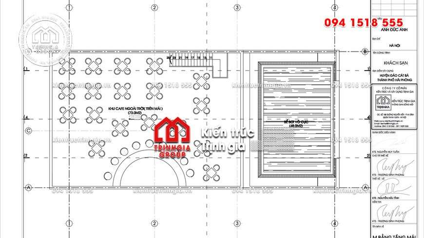 Thiết kế khách sạn mini đẹp với tiêu chuẩn 2 sao và 10 tầng