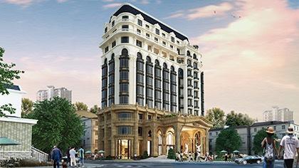 Mẫu khách sạn kiểu Pháp đẹp với thiết kế tiêu chuẩn 5 sao