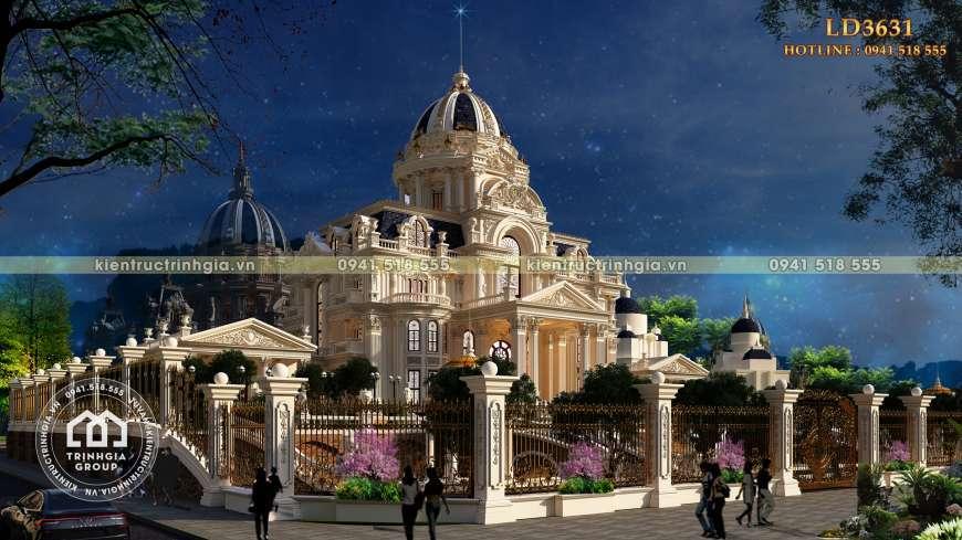 Lâu đài cổ điển 4 tầng châu Âu kiến trúc Pháp cổ