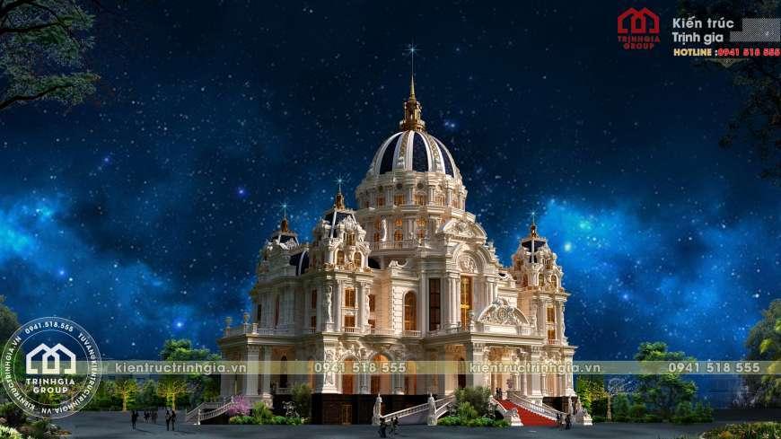 Thiết kế cung điện phong cách châu Âu ở Long An