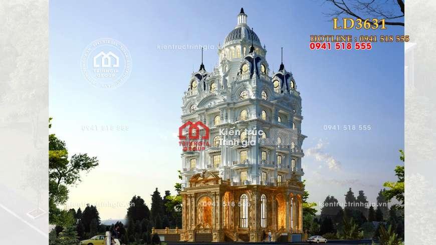 Công trình lâu đài kiến trúc Pháp cổ điển đẹp lộng lẫy