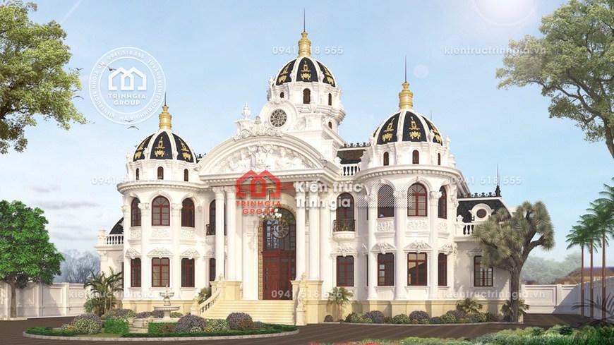 Bản vẽ mẫu nhà lâu đài dinh thự cổ điển sang trọng nhất