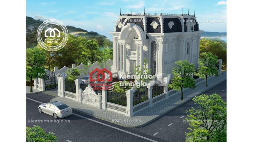 Hút mắt với thiết kế mẫu biệt thự lâu đài 2 tầng kiểu Pháp