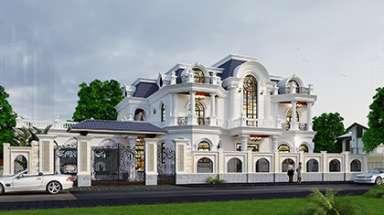 Biệt thự lâu đài kiểu Pháp 2 tầng đẹp ngất ngây ở Quảng Ninh
