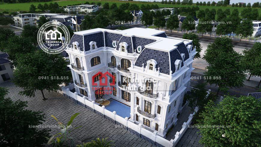 Mẫu biệt thự lâu đài 3 tầng kiểu Pháp đẹp xứng tầm đẳng cấp!