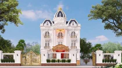 Thiết kế mẫu biệt thự kiểu lâu đài 3 tầng tân cổ điển đẹp