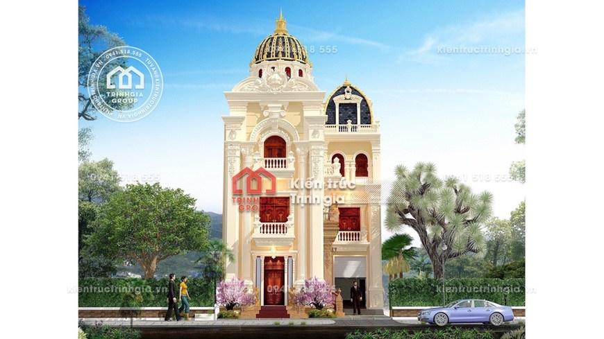 Biệt thự lâu đài 3 tầng kiểu Pháp cổ điển ở tỉnh Thanh Hóa