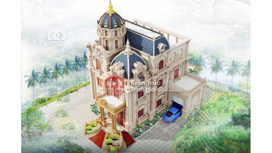 Thi công lâu đài dinh thự 3 tầng Pháp đẹp ở Sơn La đẹp nhất