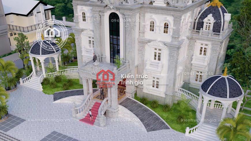 Mẫu biệt thự lâu đài đẹp 3 tầng cổ điển tại Nam Định đẹp