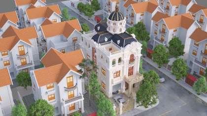 Mẫu thiết kế nhà biệt thự 3 tầng 2 mặt tiền tân cổ điển Pháp