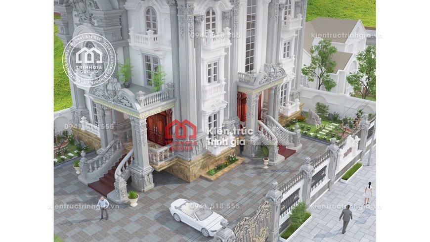 Thiết kế mẫu dinh thự 3 tầng tân cổ điển tại Kiên Giang