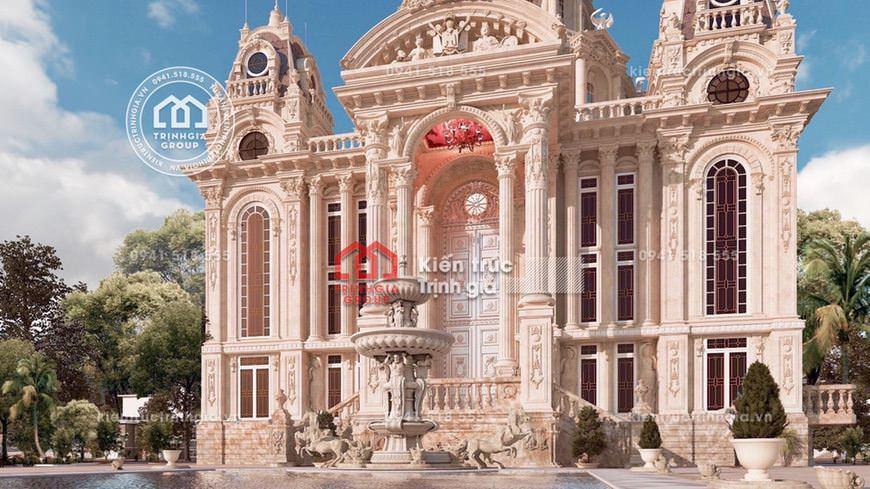 Bản vẽ mẫu lâu đài đẹp cho gia đình theo Đạo Thiên Chúa Giáo