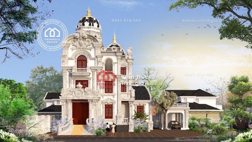 Thi công mẫu lâu đài dinh thự 3 tầng Pháp đẹp ở tỉnh Sơn La