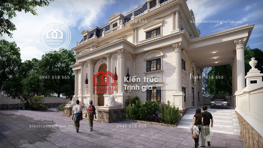 Mẫu thiết kế biệt thự lâu đài 3 tầng cổ điển ở tỉnh An Giang