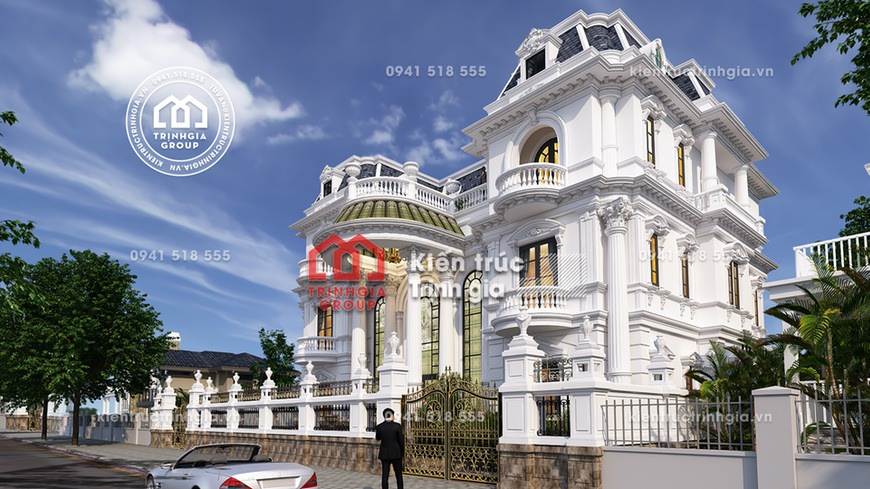 Biệt thự lâu đài 3 tầng tân cổ điển đẹp ở Móng Cái Q.Ninh
