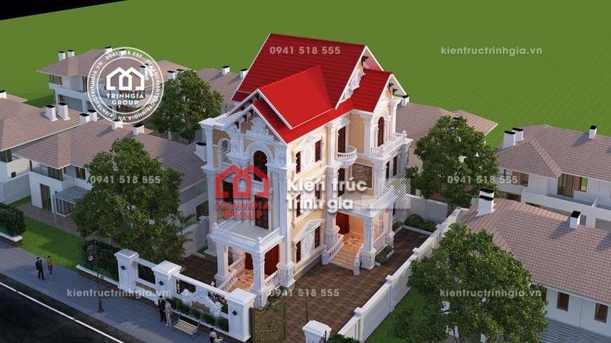 Thiết kế biệt thự kiểu lâu đài 3 tầng cổ điển siêu Sang!