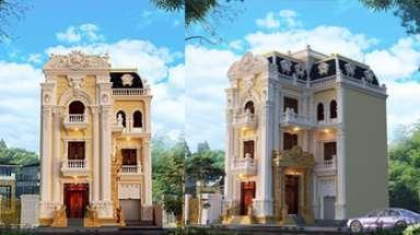 Thiết kế lâu đài 3 tầng cổ điển Pháp - Sự lựa chọn hoàn hảo!