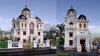 Thiết kế biệt thự kiểu lâu đài Pháp cổ điển đẹp nhất 2018 ★