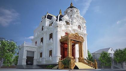 Mẫu biệt thự lâu đài 3 tầng kiểu Pháp kiến trúc cổ điển đẹp!