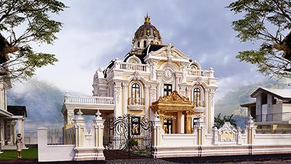 Thiết kế lâu đài kiểu Pháp - chứng minh thiên đường có thật