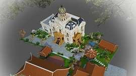 Mẫu biệt thự tân cổ điển 3 tầng đẹp tổng diện tích sàn 350m2