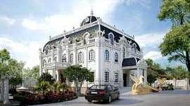 Thiết kế mẫu dinh thự đẹp có hồ bơi kiến trúc Pháp cổ điển