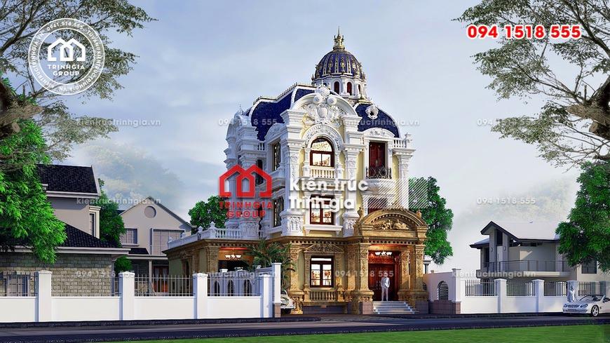 Mẫu lâu đài mini đẹp với thiết kế theo kiến trúc tân cổ điển