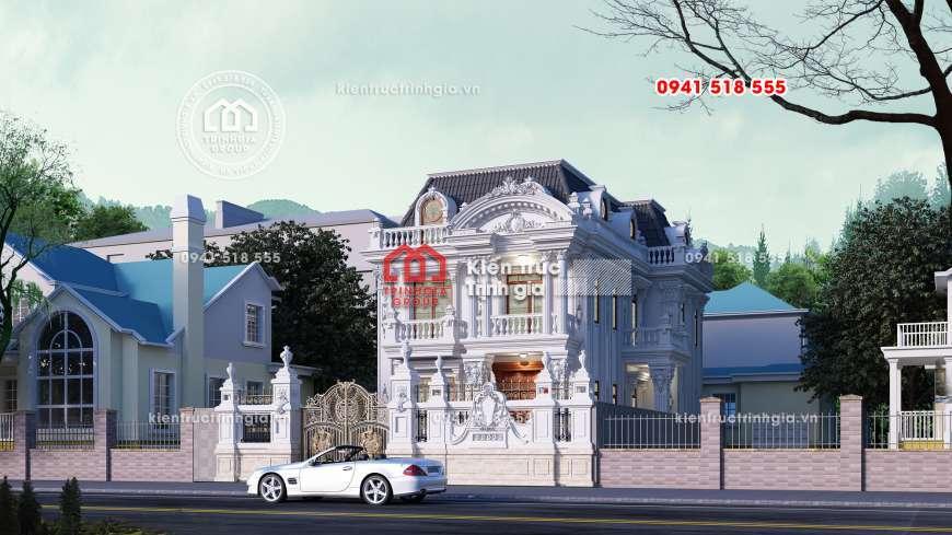 Chiêm ngưỡng lâu đài mini 3 tầng đẹp, sang trọng và đẳng cấp