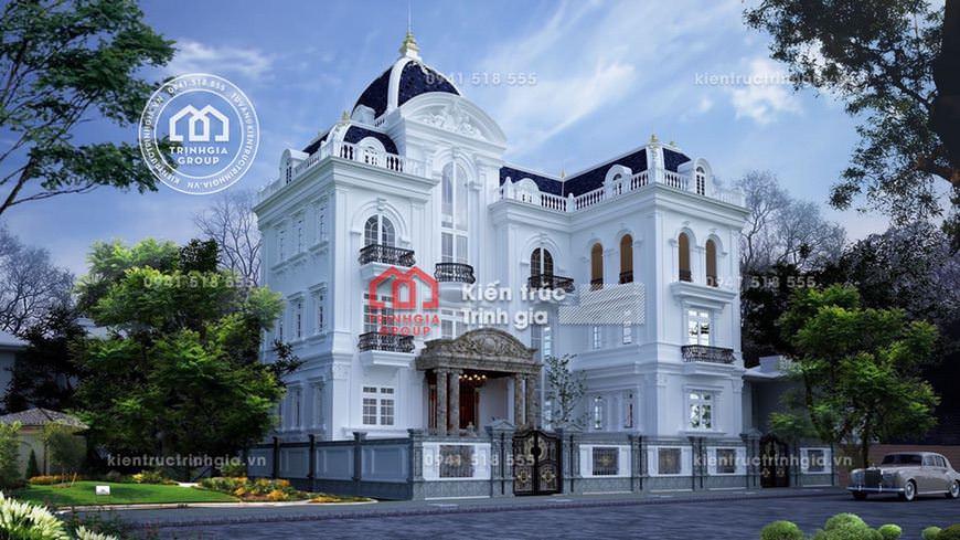 Thi công lâu đài dinh thự 4 tầng Pháp cổ đẹp ở tỉnh Sơn La