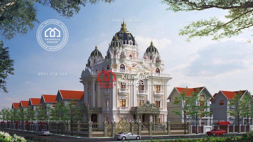 Thi công xây dựng lâu đài 4 tầng cổ điển Pháp ở Hải Dương