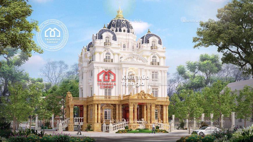 Thiết kế mẫu biệt thự lâu đài phong cách cổ điển của Pháp