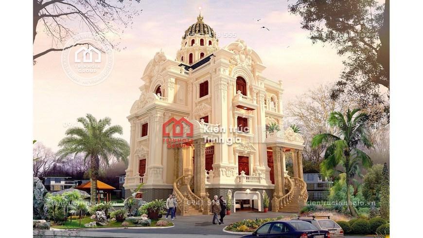 Thiết kế mẫu biệt thự kiểu lâu đài 4 tầng đẹp cùng Trịnh Gia