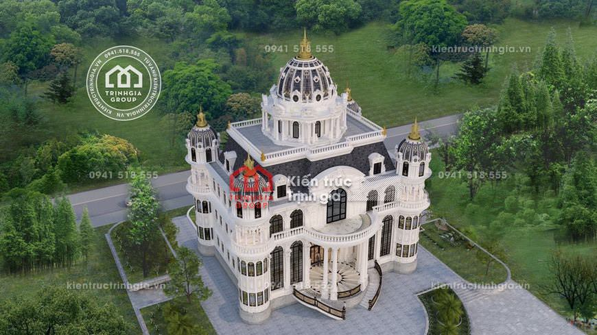 Biệt thự lâu đài 4 tầng đẹp kiến trúc Pháp tại TP. HCM