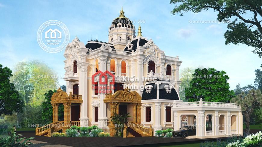 """""""SIÊU"""" lâu đài biệt thự cổ điển 4 tầng đẳng cấp tại TP. HCM"""