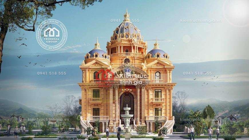 """[HOT] Thi công biệt thự lâu đài 5 tầng """"KHỦNG"""" nhất Việt Nam"""