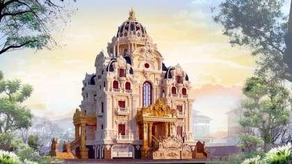 """Thi công mẫu biệt thự lâu đài 5 tầng """"chất"""" nhất Việt Nam"""