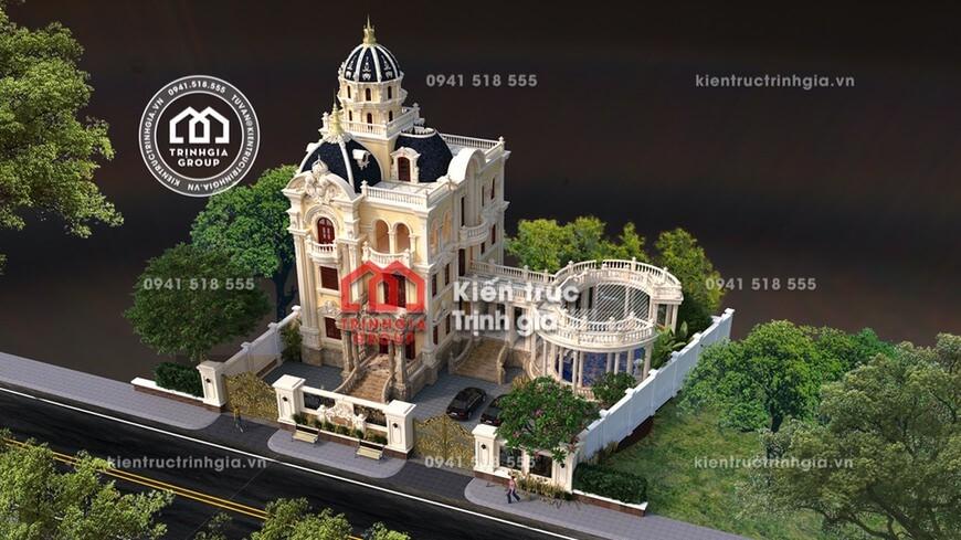 Thiết kế lâu đài 4 tầng cổ điển Pháp đẹp nhất miền bắc