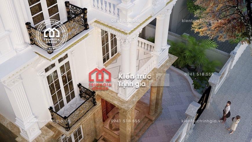 Thiết kế biệt thự lâu đài kiểu Pháp cổ điển dát vàng đẹp!