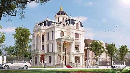 Thiết kế lâu đài 4 tầng cổ điển kiến trúc Pháp đẳng cấp mới!