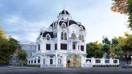 Mẫu lâu đài 4 tầng đẹp ở Hải Phòng với 4 mặt tiền sang trọng