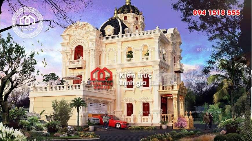 Mẫu biệt thự kiểu lâu đài đẹp với phong cách tân cổ điển mới