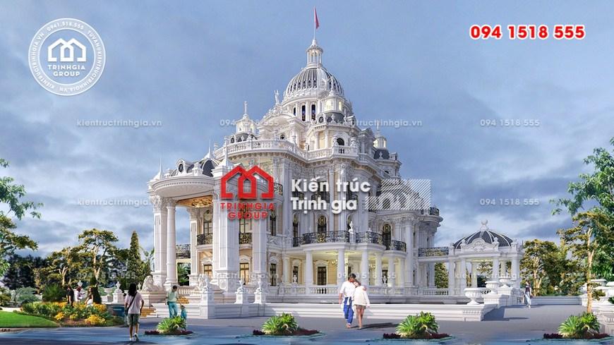 Thi công lâu đài 600 tỷ với quy mô lớn nhất nhì ở Việt Nam