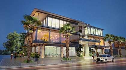 Thiết kế nhà hàng hải sản biển cùng kiến trúc hiện đại sang