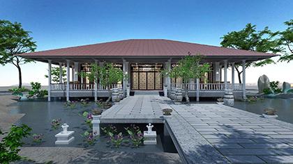 Thiết kế nhà hàng tiệc cưới theo kiến trúc truyền thống cũ