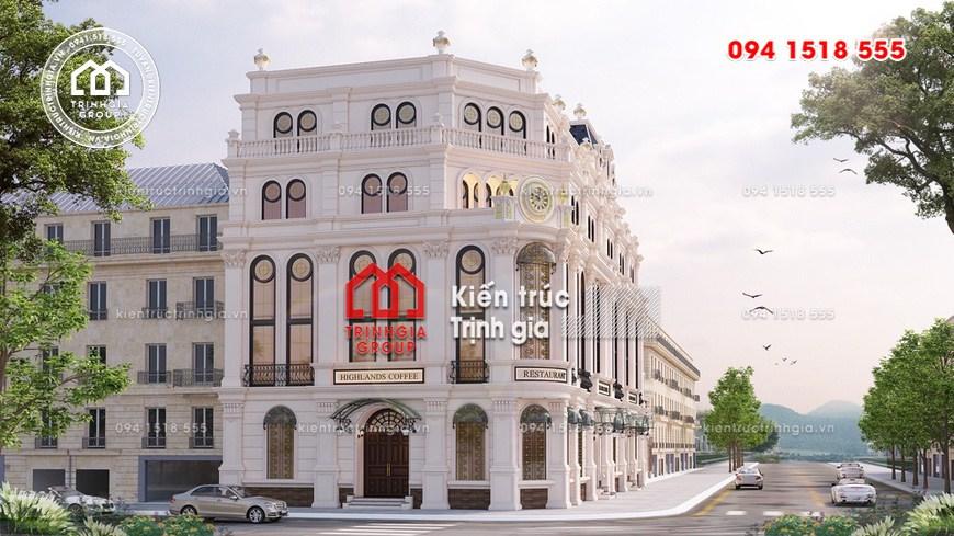 Thiết kế nhà hàng kiểu Pháp với kiến trúc Châu Âu sang trọng